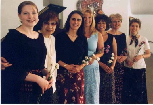 Teachers and Dr. Haruko Kataoka (second from left), Orange County Workshop, California, 2003